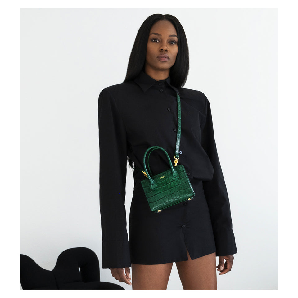 Emerald Croc Diana Bag