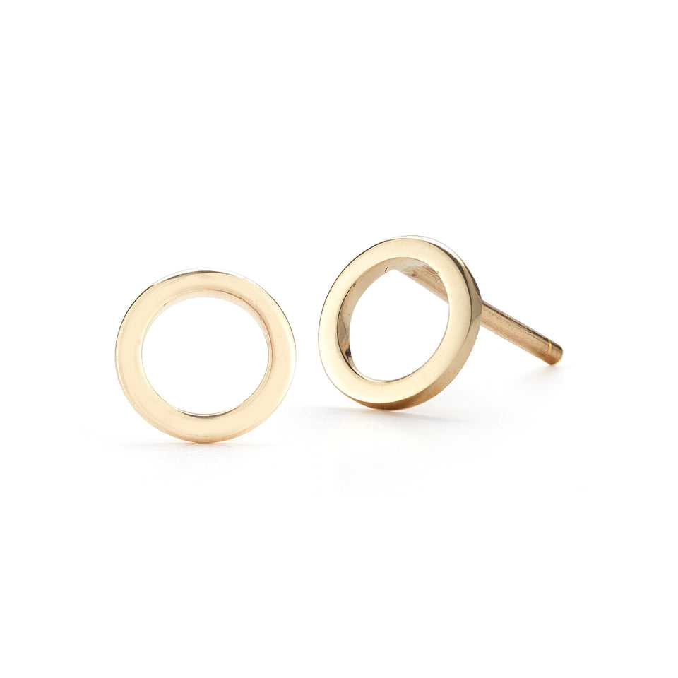 14kt Yellow Gold Mini Circle Stud