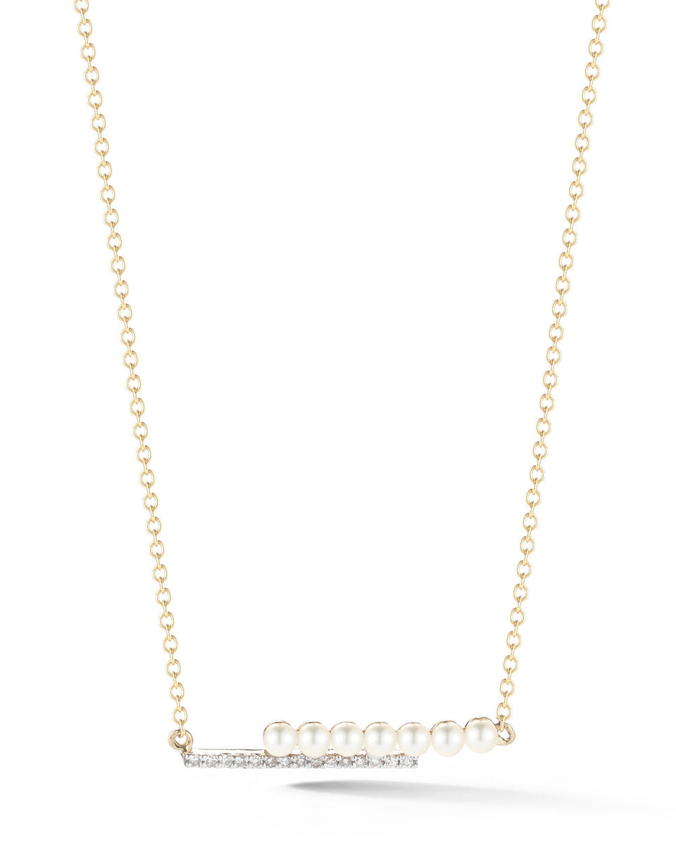 14kt Gold Pearl Bypass Necklace