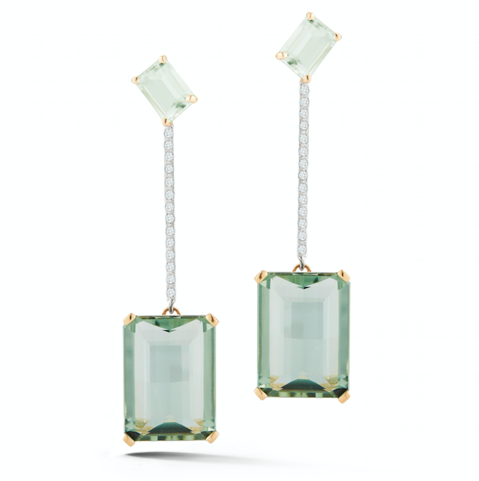 14kt Gold Mint Green Earring