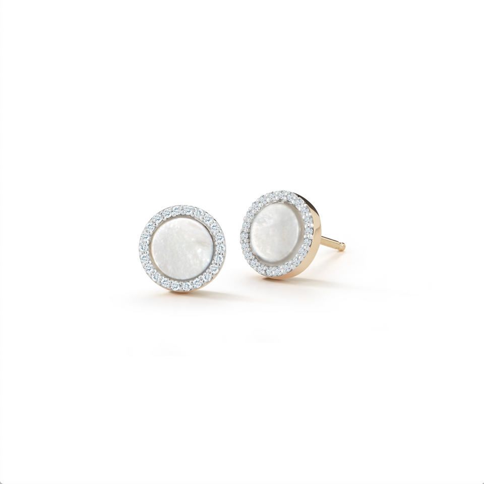 14kt Gold Mother of Pearl Studs