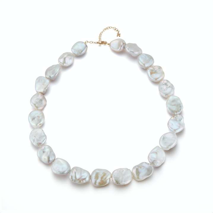14kt Gold Baroque Pearl Strand Necklace