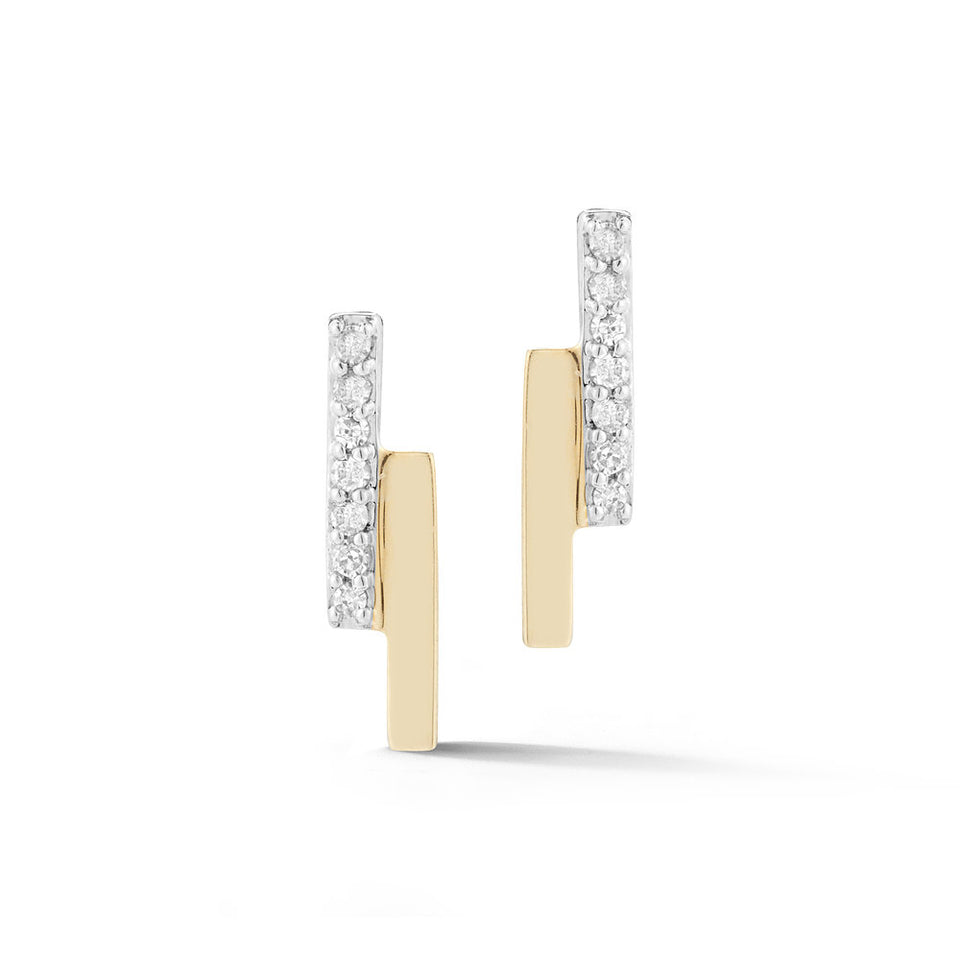 Mini Diamond Bar bypass earring