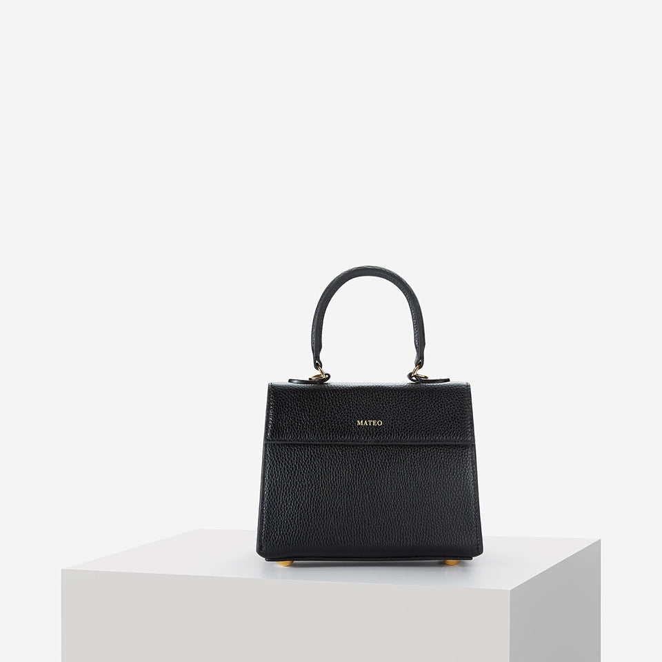 Elizabeth Bag Black Pebbled Leather