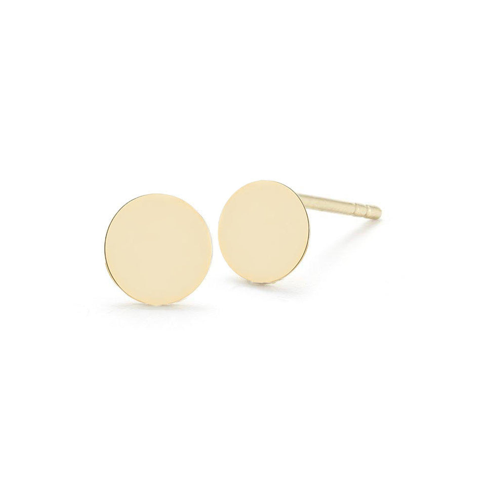 14kt Yellow Gold Mini Disc Stud
