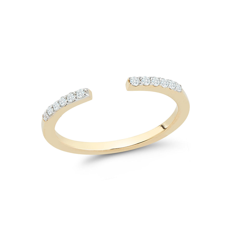 14kt Gold Open Bar Ring
