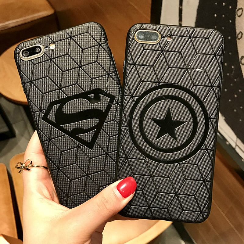 Marvel Avengers Captain America Shield Superhero Case for iPhone 6s 7 8 Plus X 10 E Electronics