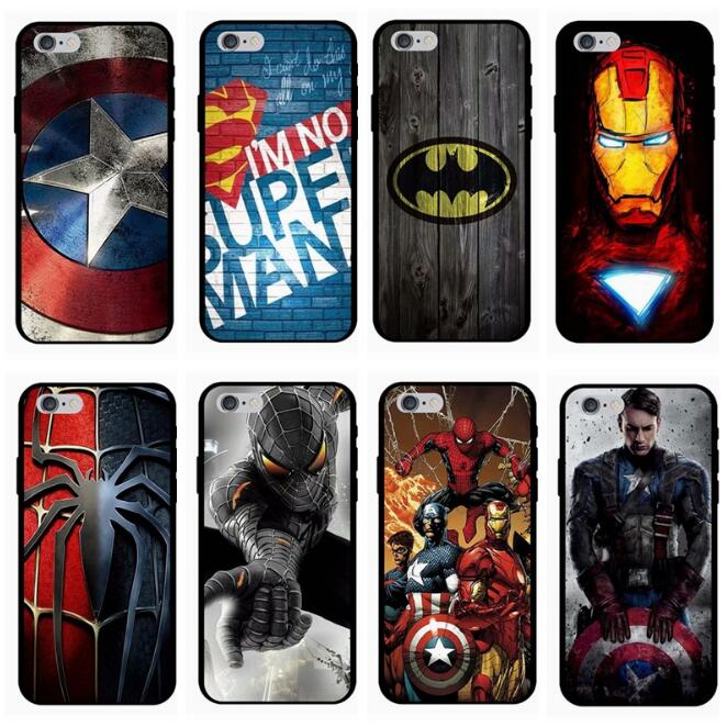 Marvel Avengers Cases for iPhone 6s 7 8 Plus X 10 XS Max XR E Electronics