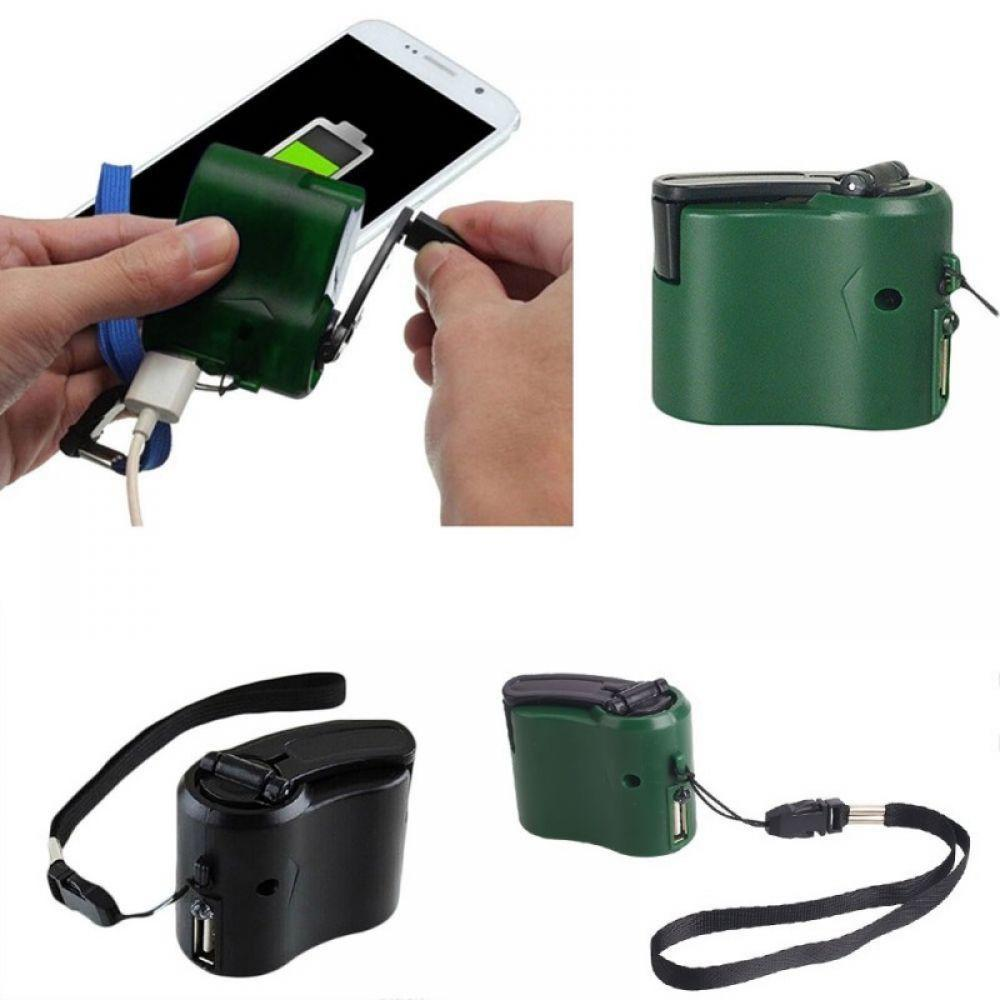 EDC USB Phone Emergency Charger For Camping Hiking Outdoor Sports Hand Crank Travel Charger camping equipment Survival Tools E Electronics