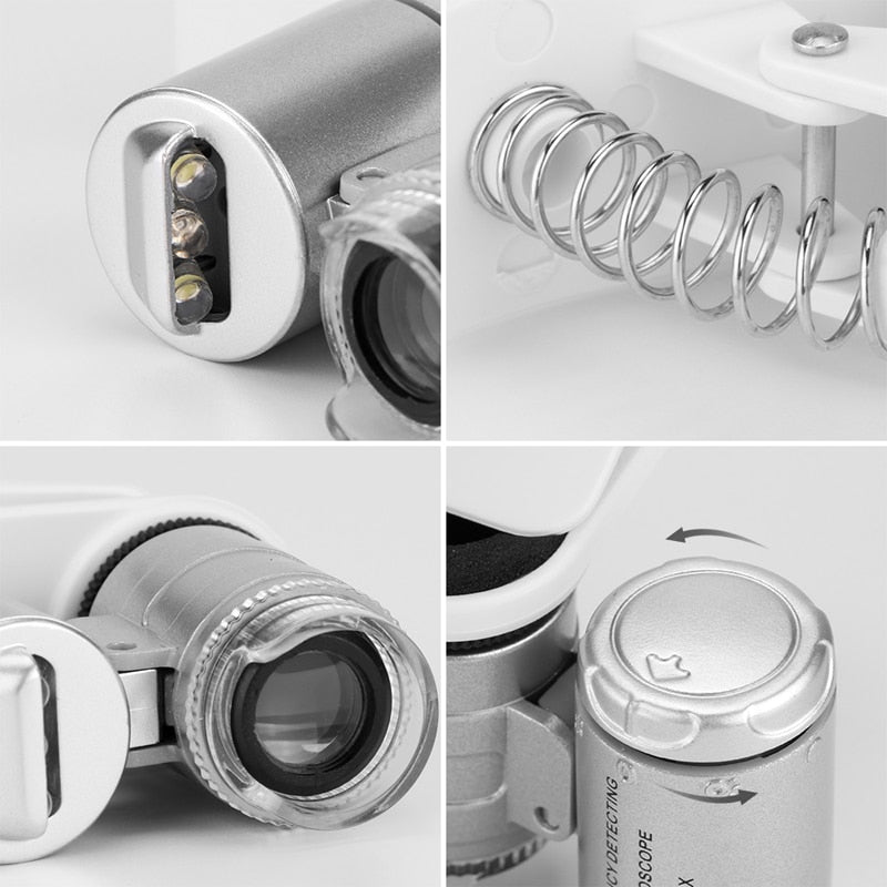 60X Optical Zoom Microscope Lens For Phone E Electronics