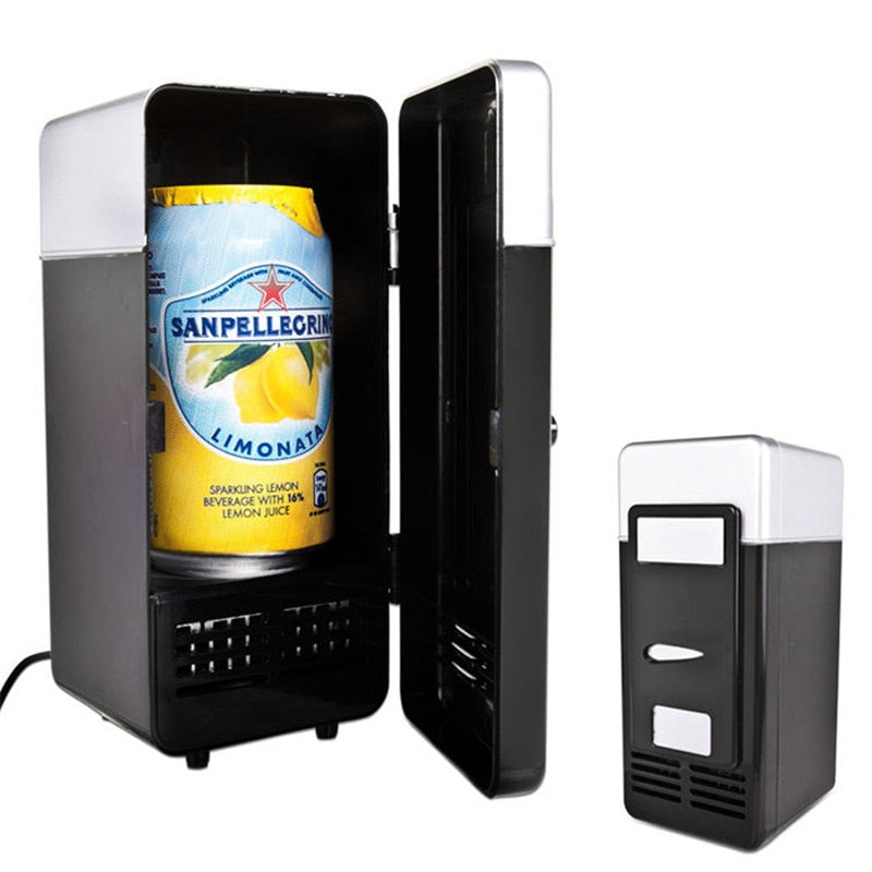 Mini Fridge USB Gadget Beverage Cans Cooler Warmer E Electronics