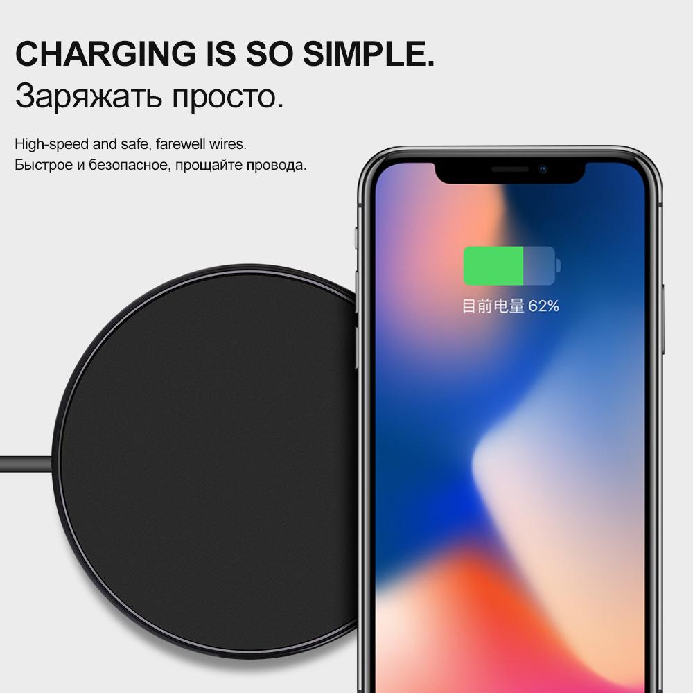 Portable QI Wireless Charging Charger for iPhone X 8 Samsung Galaxy S8 S7 E Electronics