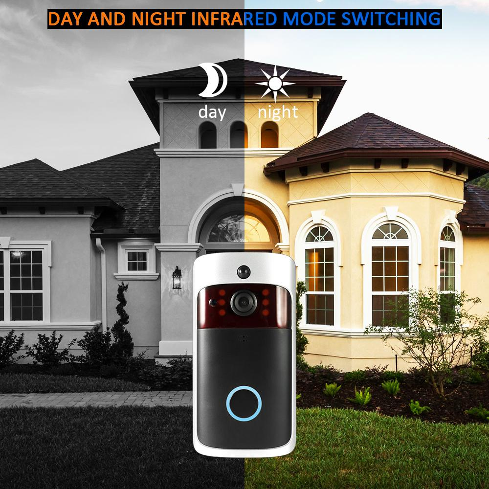 Wireless WiFi Security Doorbell Visual Recording E Electronics