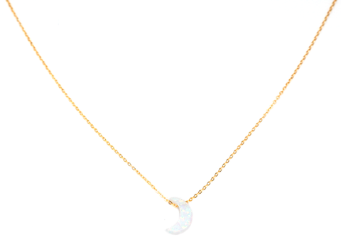 May Martin - Opalite Moon Necklace