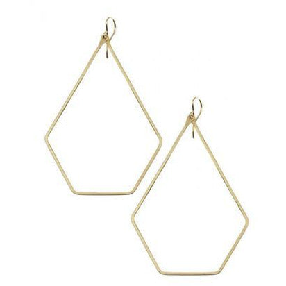 Pentagon Drop Earring
