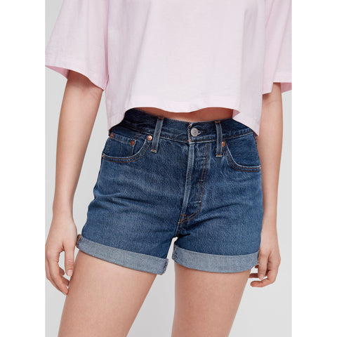 DARK WASH LEVI SHORT