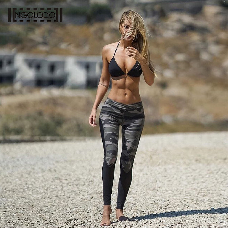 NGOLODO Fitness Leggings Women Camouflage Print Skinny push up jeggings for girls stretch work out sexy trousers elastic Pants