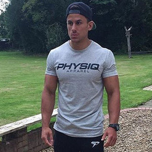 Brand Mens cotton t shirt 2018 summer new gyms Fitness Bodybuilding Shirts male fashion Casual short print Tees Tops clothes