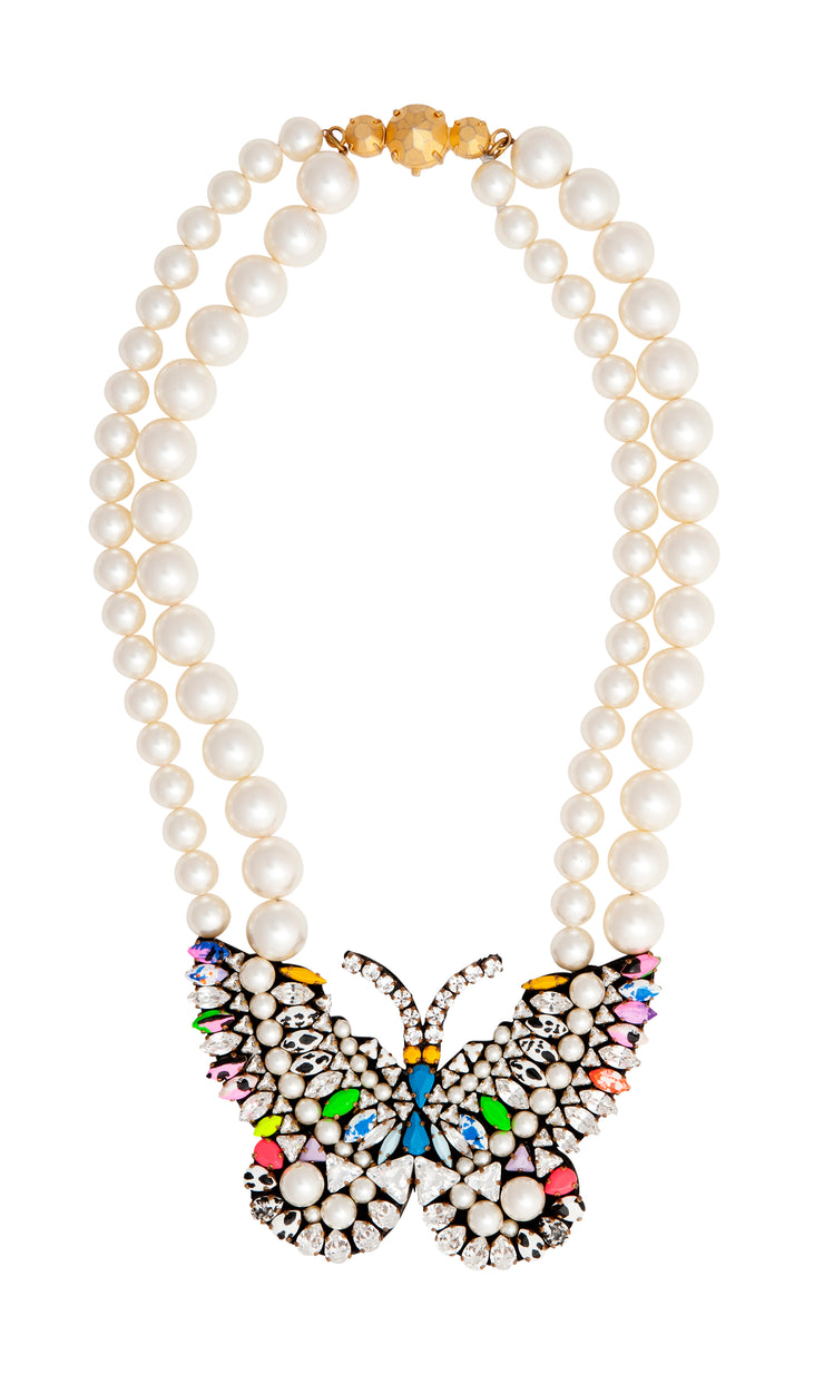 BUTTERFLY PEARL MULTI NECKLACE
