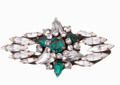 MINI WALLIS GREEN BROOCH