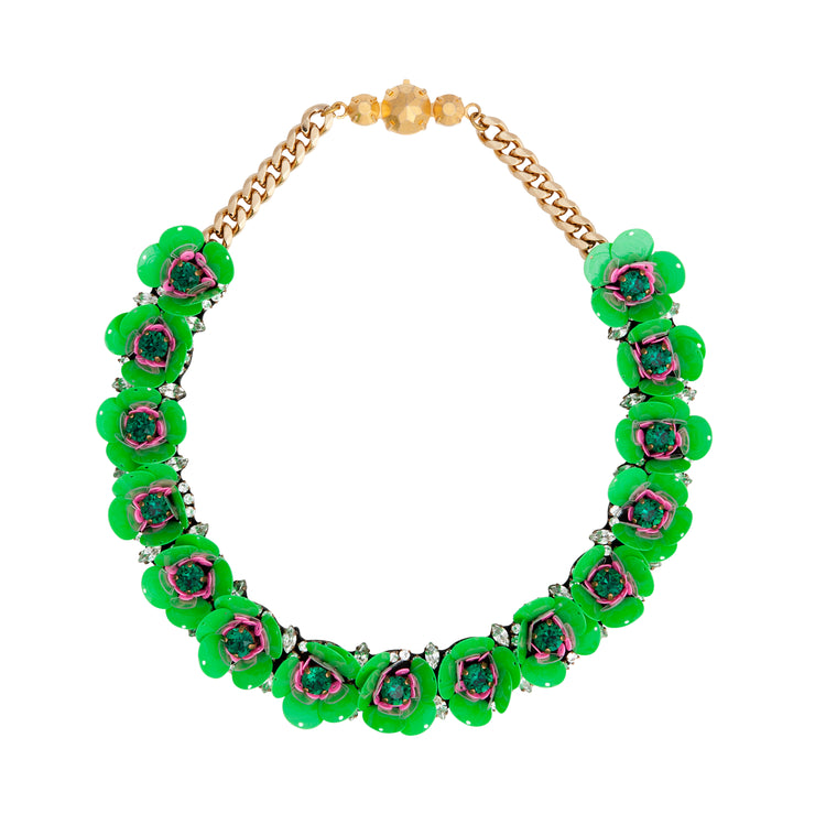 DAISY GREEN NECKLACE