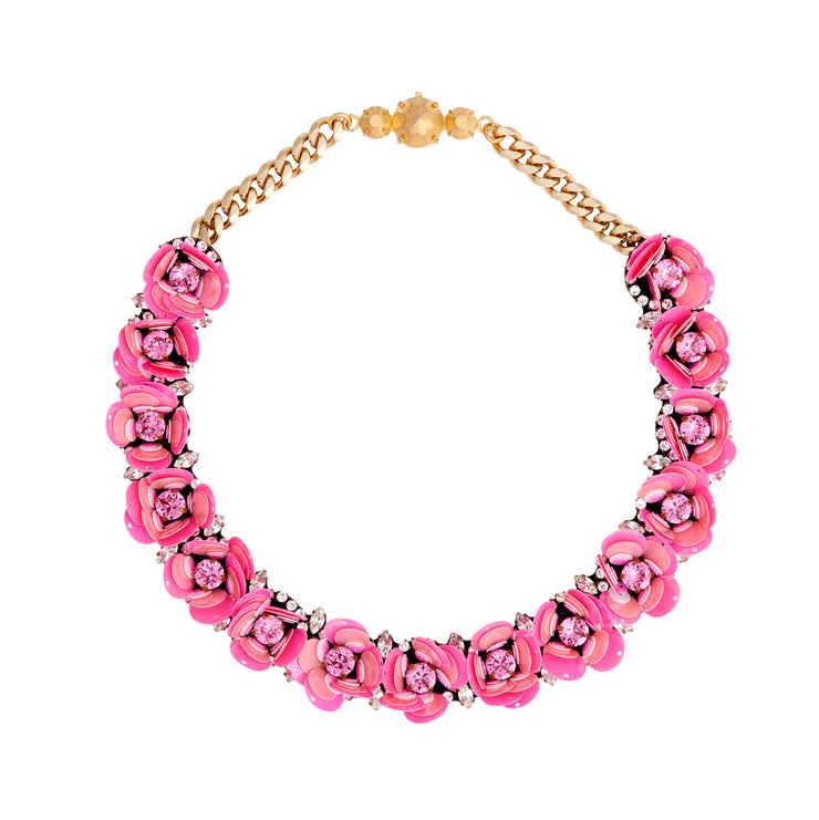 DAISY PINK NECKLACE
