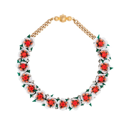 DAISY WHITE NECKLACE