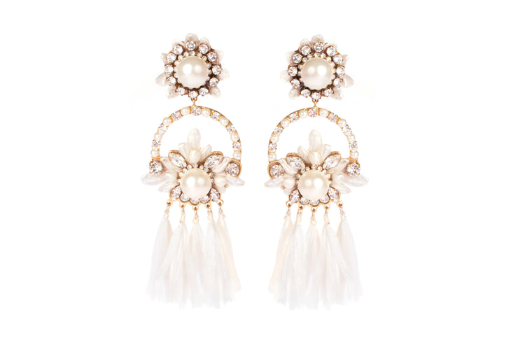 MALENA WHITE EARRINGS