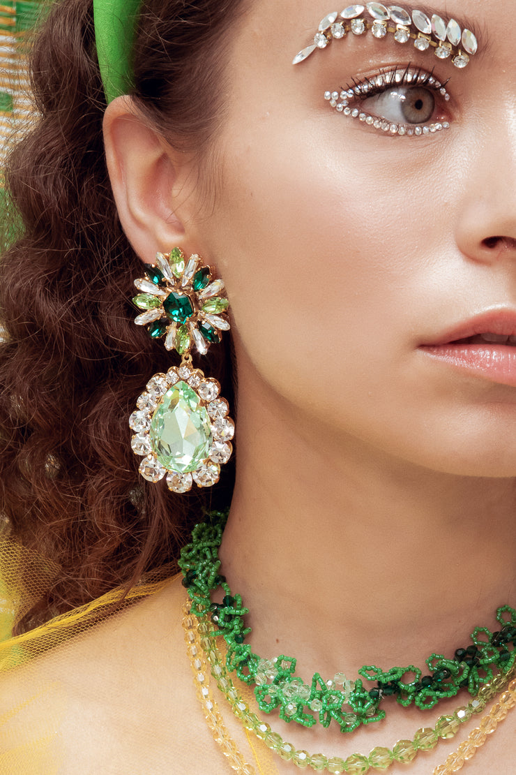 CAPUCINE GREEN EARRINGS