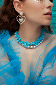 FROUFROU BLUE NECKLACE