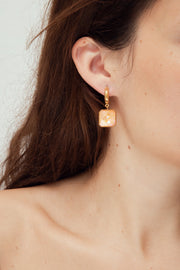 GEM PEACH EARRINGS