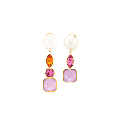 CASCADE PEARLS PINK EARRINGS