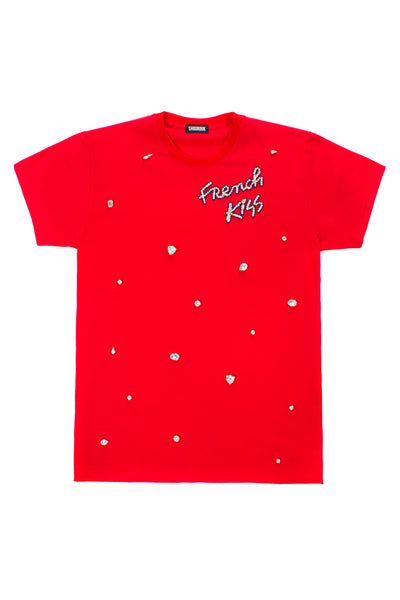FRENCH KISS T.SHIRT RED