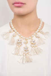 GINA WHITE NECKLACE