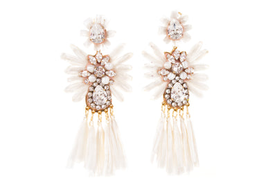 SICILY WHITE EARRINGS