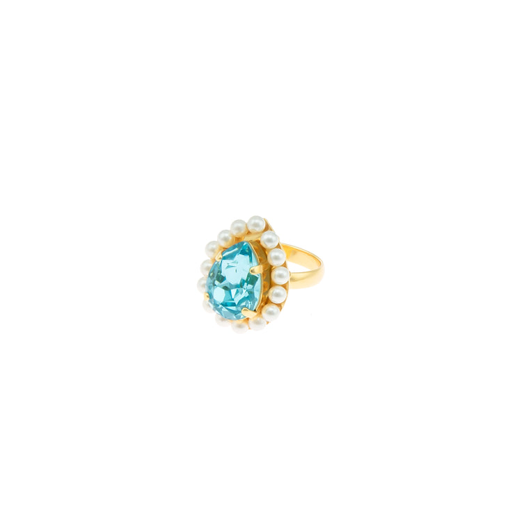 POMPADOUR LIGHT TURQUOISE RING