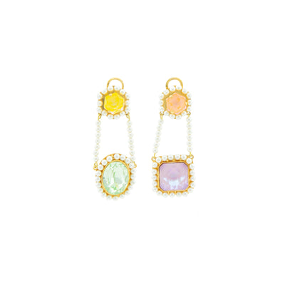 POMPADOUR PASTEL EARRINGS