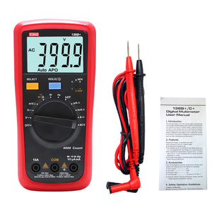 ZIBOO 136B+ Large LCD display; Overload alarm  Digital Multimeter