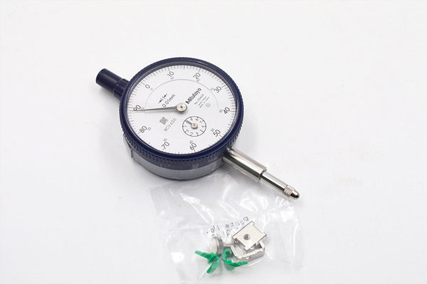 Mitutoyo 2046SB Dial Indicator Thread, 8mm Stem Dia Flat Back M2.5X0.45