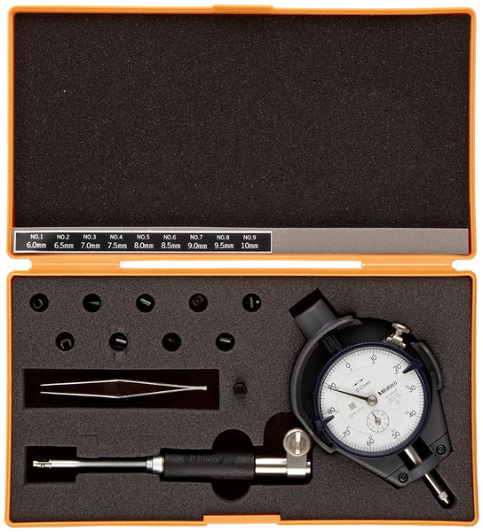 Mitutoyo 511-211 Dial Bore Gauge for S Holes, 6-10mm Range, 0.01mm Graduation