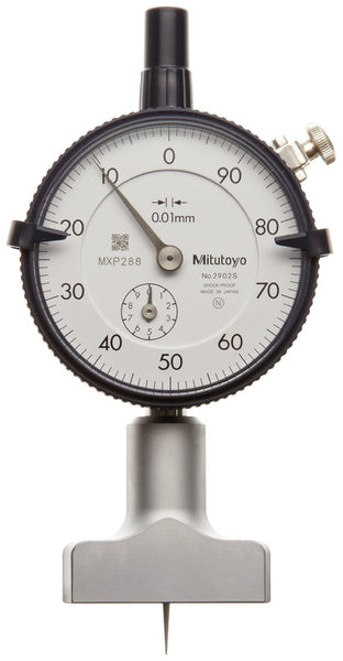 Mitutoyo 7210 Dial Depth Gauge, Indicator Type, 0-10mm Range