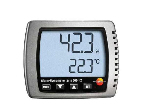 Testo 608-H2 Humidity Dewpoint Temp Hygrometer Dew Point Meter Teste LED Alarm