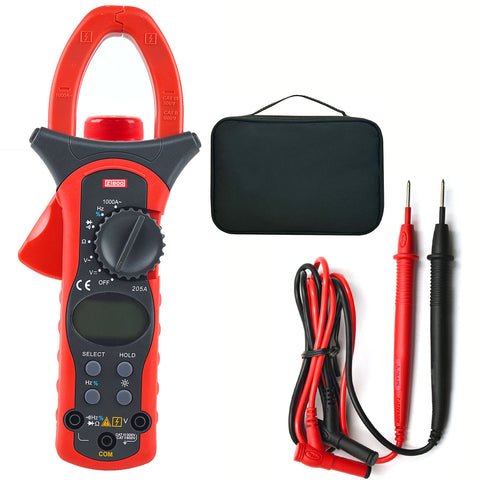 ZIBOO 205A are professional 1000A digital clamp meters with 40mm jaw