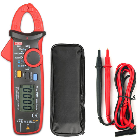 ZIBOO 211B 60A mini clamp meter is a high precision tool designed with the resolution of 0.1mA.