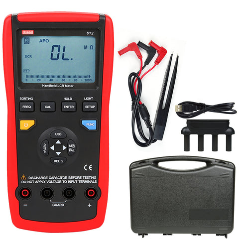 ZIBOO 612 USB Interface Auto Range LCR Meter Inductance Freq Auto Off Teste