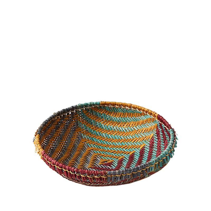 Vintage Navajo Geometric Basket Medium