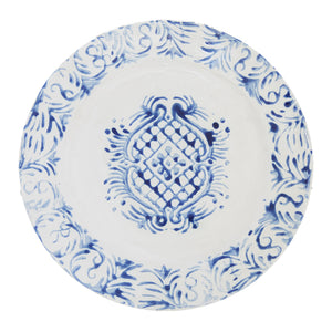"""Tribal"" Dinner Plate Blue"