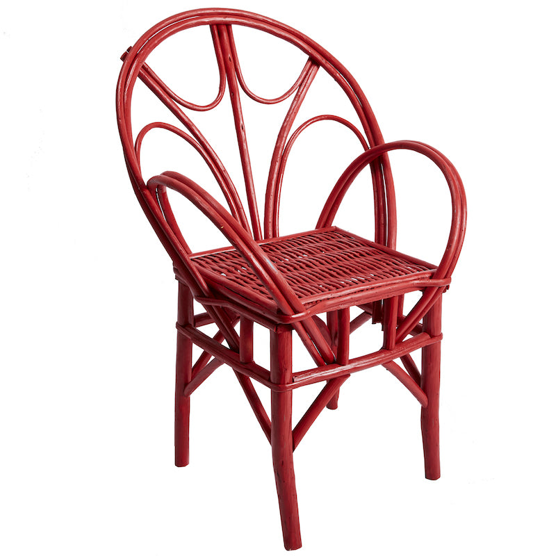Red Wicker Chair