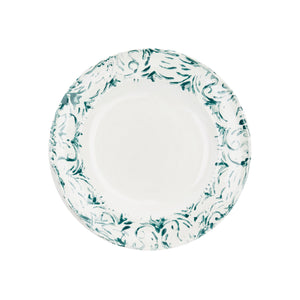 "Load image into Gallery viewer, ""Floral"" Dessert Plate Green"