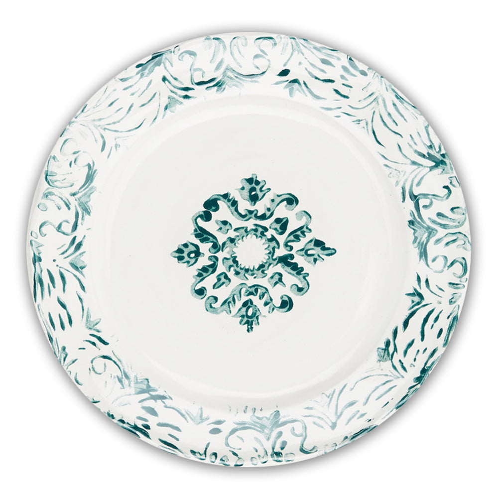"""Floral"" Dinner Plate Green"
